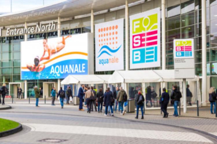 aquanale neuen Hallen 7 und 8 der moderne Eingang Nord in 2015