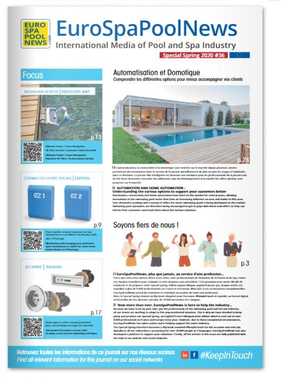 couverture #KeepInTouch magazine piscine spa professionnels édition digitale