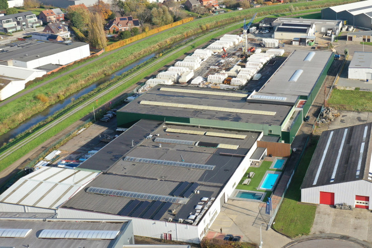 Covrex - LPW Pools production and assembly site in Aarschot Belgium