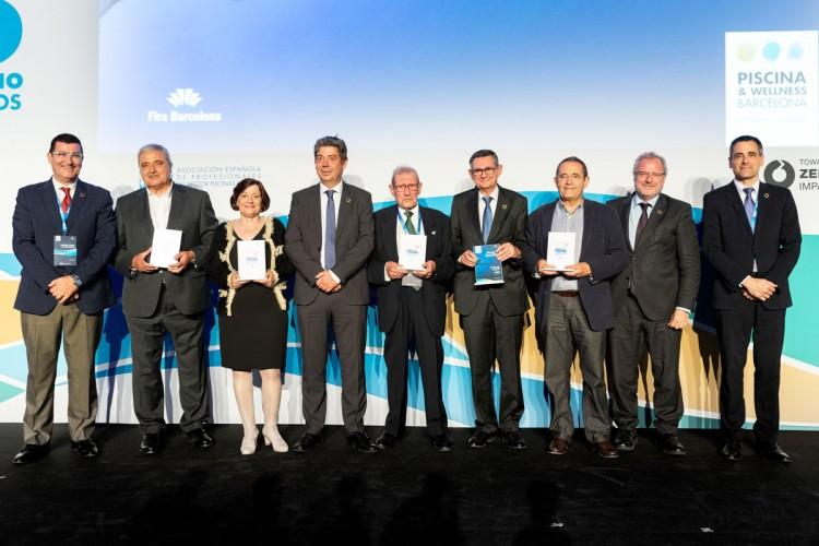 Eloi Planes y los ganadores de los Premios Piscina & Wellness 2019