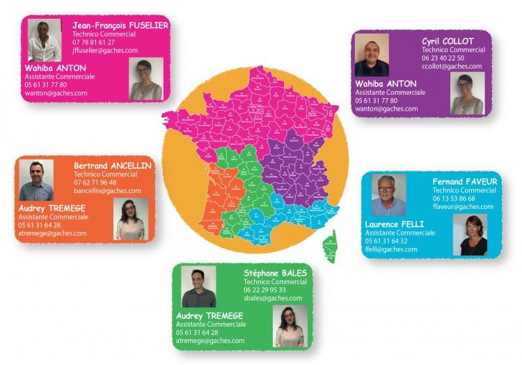 Equipe commerciale de Gaches Chimie en France