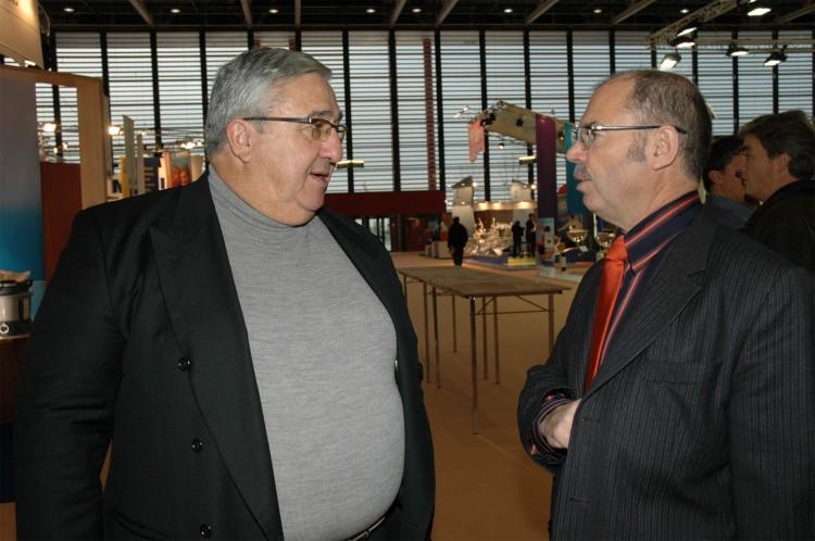 Henri Peruchon et Loïc Biagini salon Piscine 2004 Lyon