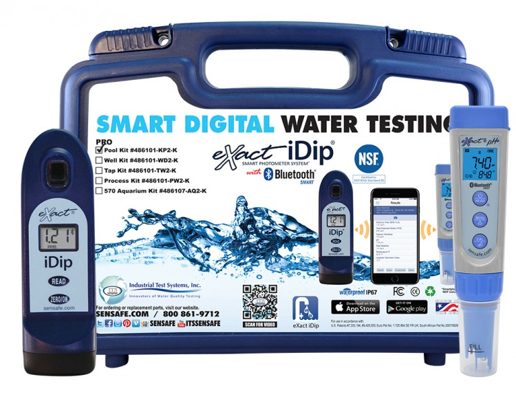 digital water quality test nsf certified eXact iDip professional kit