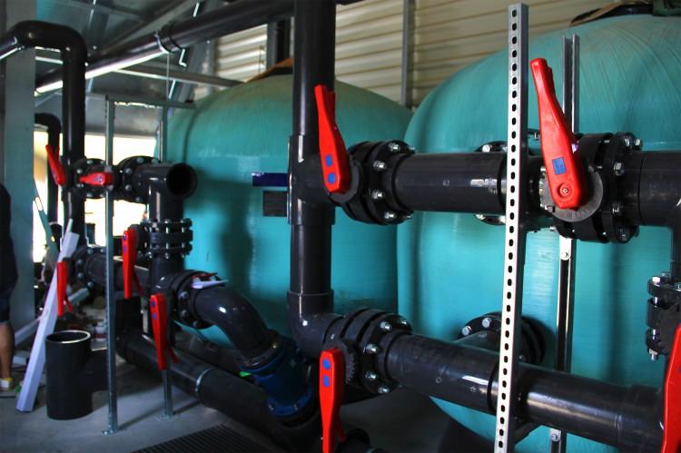 Local technique de l'espace aquatique Espace de Liberté Narbonne filtration Creation Piscines