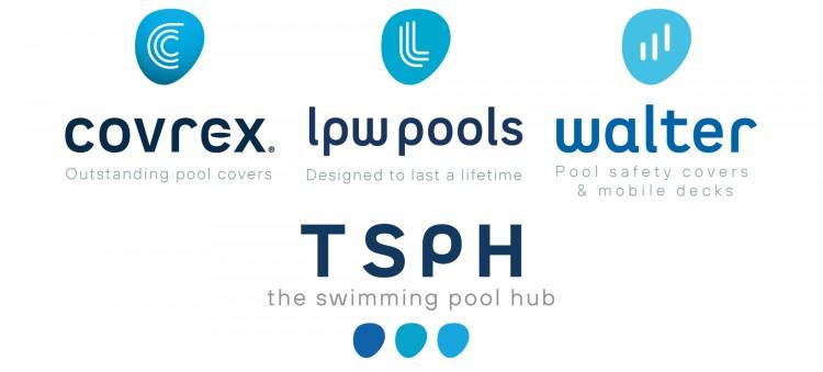 Logos des 3 marques qui constituent le groupe TSPH