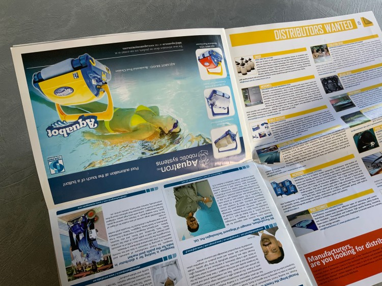 Page pub montée à l'envers aquabot Le JUSTE LIEN salon Inde