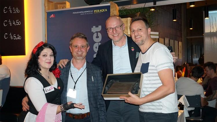 Récompenses aux 4es Innovations Days de Peraqua avec Wolfgang Irndorfer