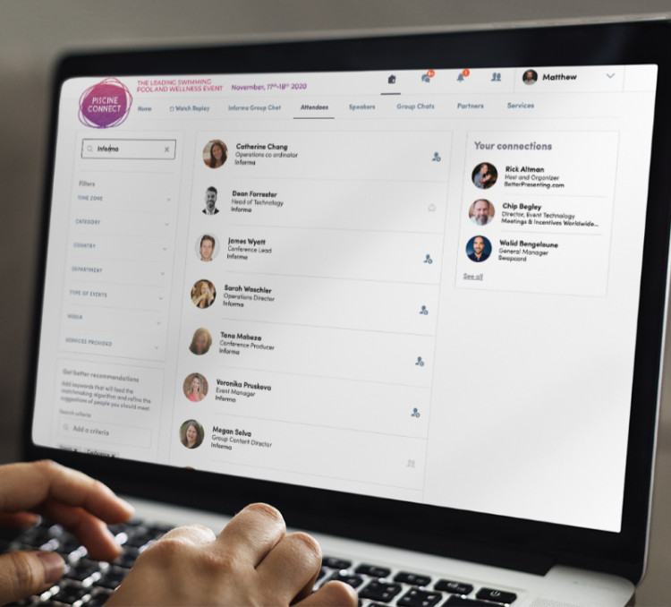 Inscrivez-vous pour participer à la plateforme digitale Piscine Connect 2021