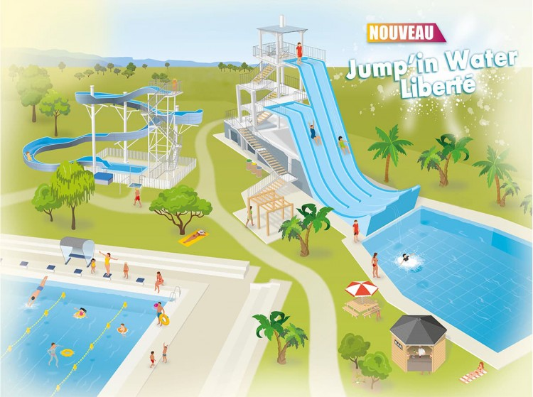 Plan dessine du projet du Water Jump