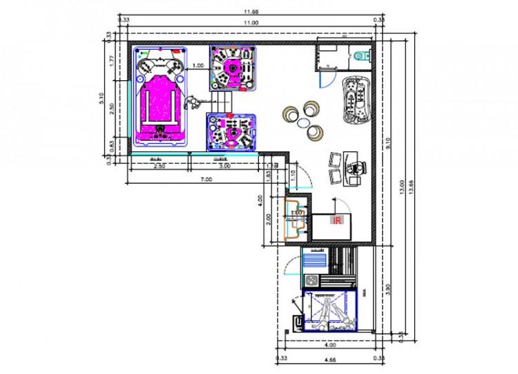plan integration bureau de design Clair Azur spa hammam sauna