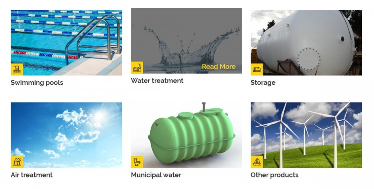 Products water treatment pools Technlo New website