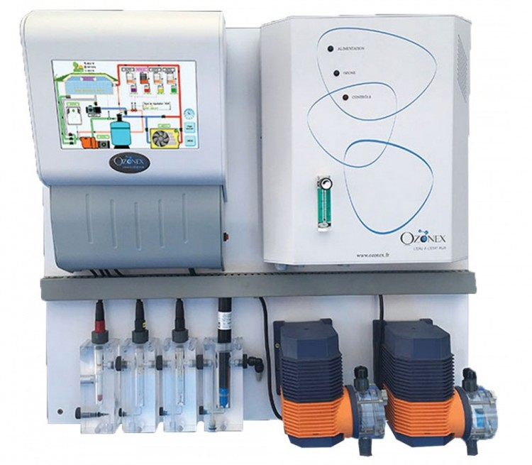 régulation automatique piscine public système domotique piscine My Ozonex et ozonateur
