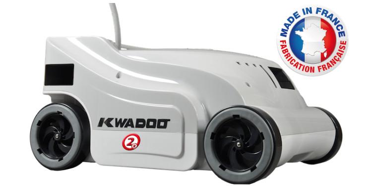 Robot piscine Kwadoo 2R de fabrication française