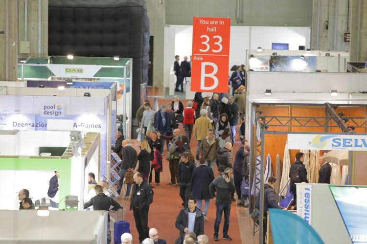 ForumPiscine 2019 pool and spa expo stands bologna fair italy