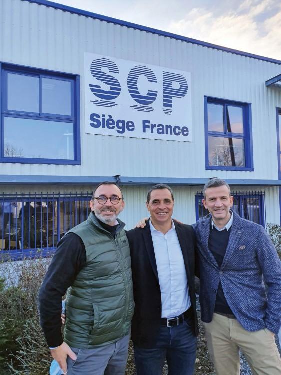 Guillaume Vaganay, Daniel Bos y Carlos Garrido
