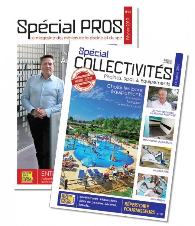 Special Pros y Special Collectivité revista profesionales Piscina y spa