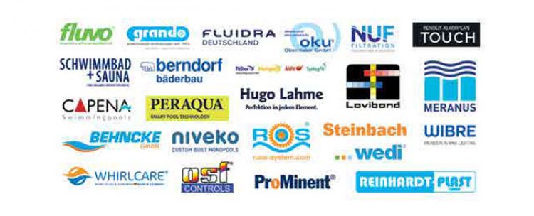 The companies supporting the International Swimming Pool & Wellness Forum