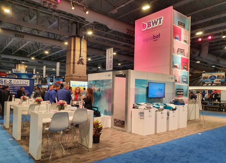 Stand BWT Aquabot aquatron robots piscine Atlantic City 2020 pool and spa show