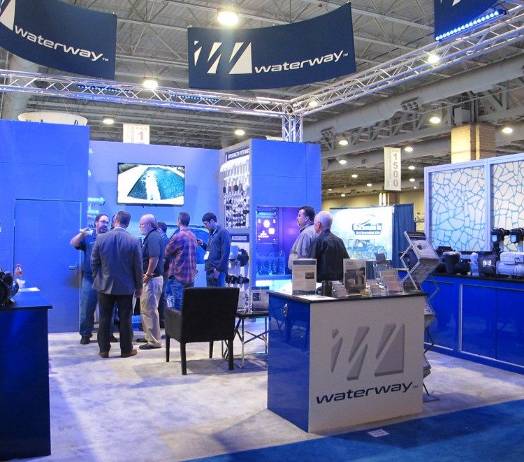 Le stand Waterway Pool & Spa Show 2020 Atlantic City salon piscine