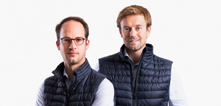 The two directors of the TSPH group: Guillaume de Troostembergh and Edmond de Fabribeckers