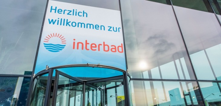 interbad entry welcoming Messe Stuttgart