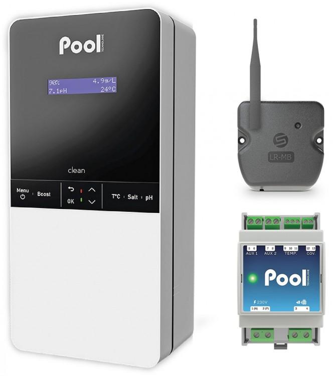 Clean CONNECT de POOL Technologie gestion électrolyseur régulation auxiliaires équipements piscine