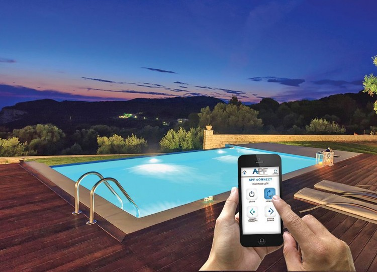 APF Connect application gestion équipements piscine sur smartphone tablette