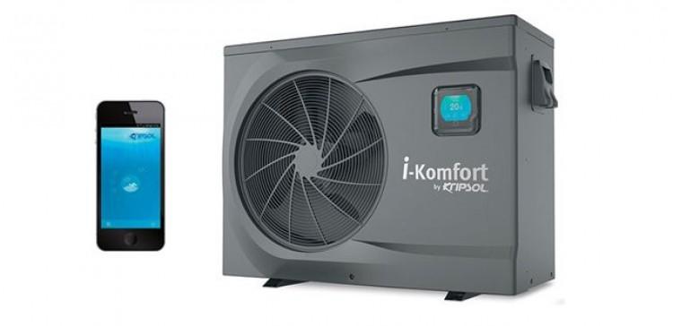Pompe à chaleur piscine i-Komfort de Kripsolgestion contrôle à distance smartphone tablette