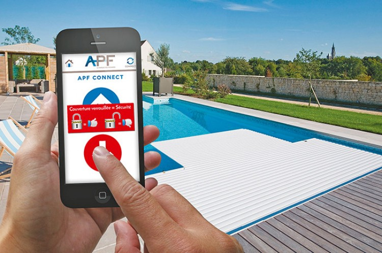 application APF Connect pilotage couverture automatique piscine