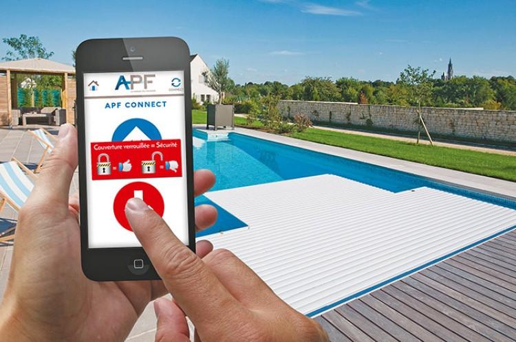 application APF Connect pilotage couverture automatique piscine