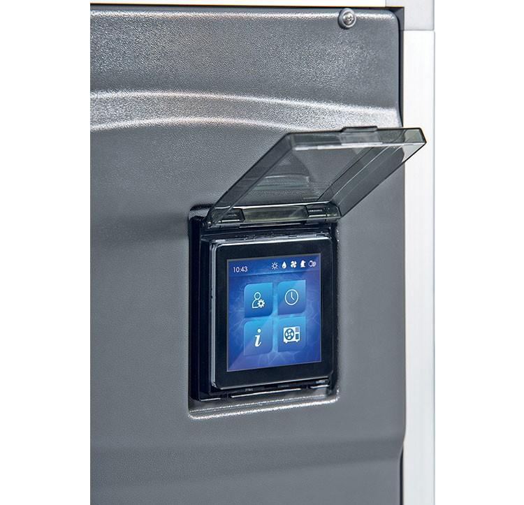Le boîtier support et porte de protection transparente ecran tactile pompes chaleur Polytropic