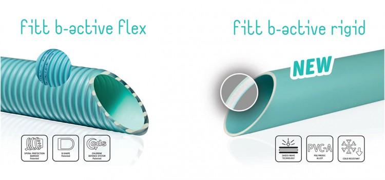 fitt b-active flex fitt b-active rigid tubes flexibles spiralés rigides pvc-A piscines enterrées