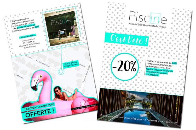 flyers Poolspot campagne marketing directe ciblée propriétaires piscines