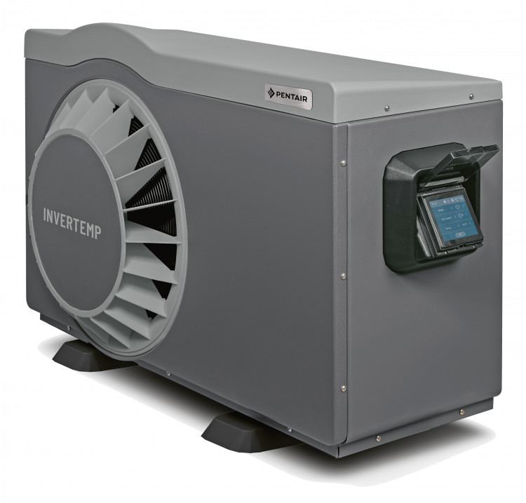 Pentair Invertemp®-DB heat pump with a TFT touch screen