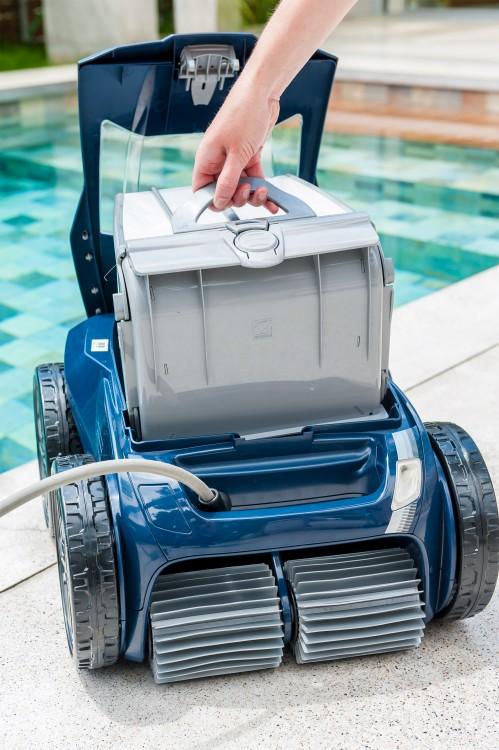 cassette filtre facile à sortir du robot piscine Alpha iQ zodiac entretien maintenance nettoyage