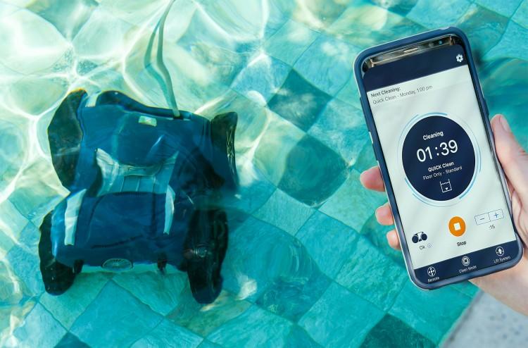 robot nettoyage piscine Alpha iQ connecte application smartphone iAquaLink Zodiac