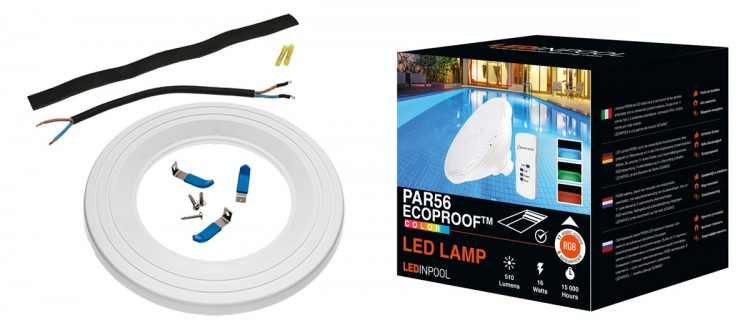 lampe led Piscine Ecoproof Seamaid et kit installation