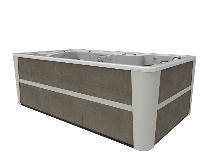 swimspa compact mobile uerban grey