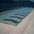 A swimming pool that overlooks the beautiful Lake Maggiore