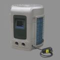 Compact heat pump for domestic pools