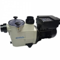 Variable speed self-priming pump for private swimming pools