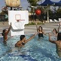 Pool Shot Products presents  an adjustable varsity Basketball water game
