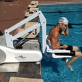 i-Swim pool lift helps people with reduced mobility