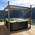 New Covana Evolution: an automated solution to cover larger and round hot tubs