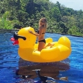 The world-renowned Derby Duck is now taking passengers in the swimming pool!