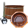 Hot Tub which is made of environment friendly heat treated Finnish pine