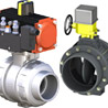 Actuated Butterfly and Ball Valves