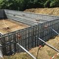 Formwork for poured reinforced concrete monobloc pools