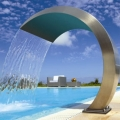 The Cobra water curtain in brushed stainless steel 316Ti, is now available for any pool size