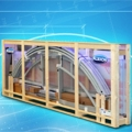 The telescopic pool enclosure packed in a box by ALBIXON